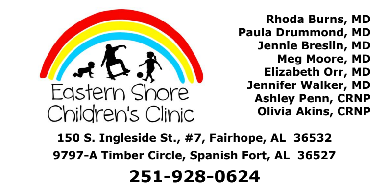 Thank you, Eastern Shore Children's Clinic!